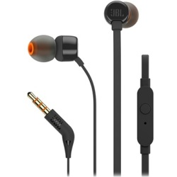 JBL Tune 110 In Ear Headphones with Microphone 3.5mm Black