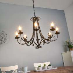 Lampadario ROMA a 8 luci in stile country