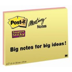 Post it Super sticky meeting blocchi 75557