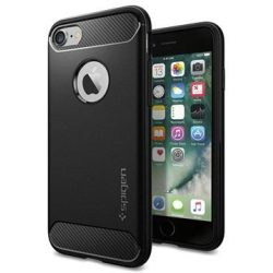 Custodia Spigen Rugged Armor per iPhone 7 8 Nera