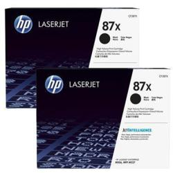 HP 87X 2PACK HIGH YIELD BLACK TONER CF287XD