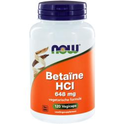 Now Foods betaina HCL 648 mg 120 capsule