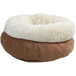 All For Paws Cat letto in lana d' agnello donut letto marrone