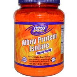 Proteine Whey in polvere vaniglia naturale (816 g) Now Foods