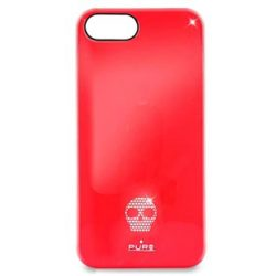 Cover Click On Puro Skull per iPhone 5 5S SE Rossa