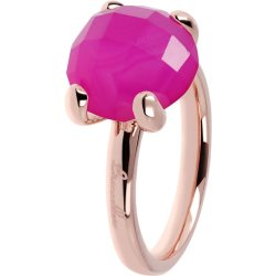 Anello Cocktail Fucsia ROSE GOLD 16 CALCEDONIO FUCSIA