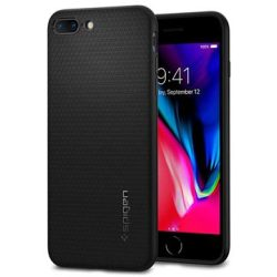 Cover in TPU per iPhone 7 Plus iPhone 8 Plus Spigen Liquid Armor Nera