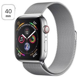 Apple Watch Series 4 LTE MTVK2FD A Acciaio Inossidabile Loop Milanese 40mm 16GB Color Argento