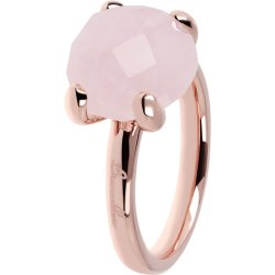 Anello Cocktail Quarzo Rosa ROSE GOLD 16 QUARZO ROSA