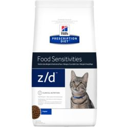 Hill's Prescription Diet z d Food Sensitivities secco per gatti Set 2 x 2 kg