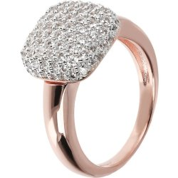 Anello Quadrato Pavè ROSE GOLD 12 CUBIC ZIRCONIA