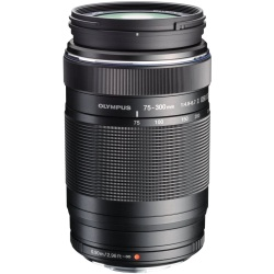 Olympus 75 300 mm F4.8 6.7 ED II 58 mm Obiettivo (compatible con Micro Four Thirds) nero